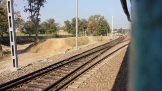 Superfast expreas departure: Mansa station, electrification at beginning stage and doubling has done width=