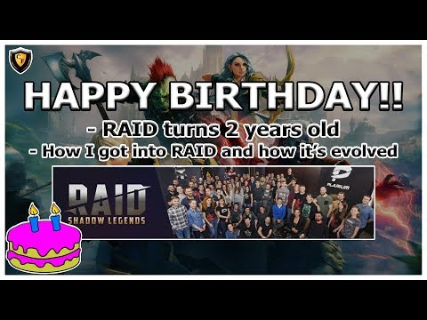 RAID Shadow Legends | RAID's 2 Year Birthday! How I got into RAID and how it's evolved.