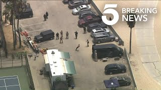 Pursuit of Man Suspected of Assaulting His Mother Ends in Venice