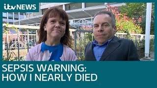 Sepsis warning: Warwick Davis and his wife on how she nearly died | ITV News