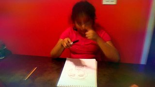 Deaf video,how to draw a girl