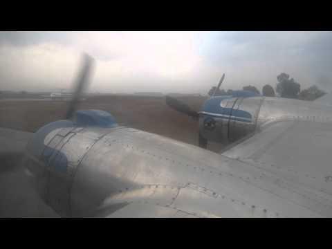 Douglas DC-4 ZS-AUB Engine Start at Jo'burg, 22 Sept. 2012