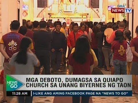 NTG: Mga deboto, dumagsa sa Quiapo church sa unang biyernes ng taon