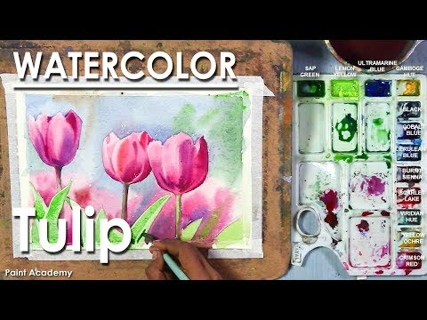 Painting Tulips in Watercolor | Watercolor Flower Painting