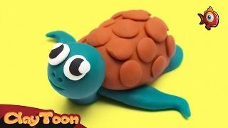 Water Turtle (Aquatic Turtle), Polymer clay tutorial   سلحفاة مائية - تشكيل صلصال