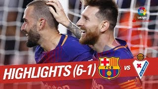 Resumen de FC Barcelona vs SD Eibar (6-1)