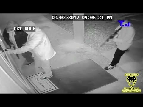 Three Armed Home Invaders Try to Ambush Homeowner   Active Self Protection