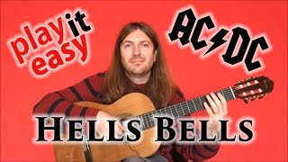 Hells Bells - Play It Easy - AC/DC guitar cover with tabs with sheet music