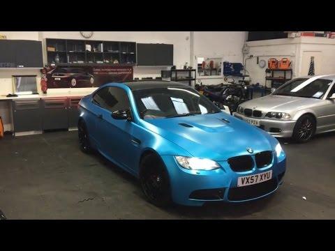 BMW M3 4.0 V8 BEAST! Satin Ocean Shimmer 3m Wrap Cardiff Tints