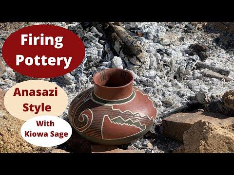 Anasazi Style Pottery Firing
