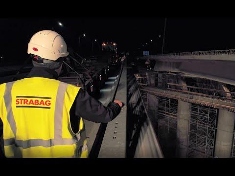 STRABAG Polska: Montaż belek VFT na wiadukcie WA-352 autostrady A1