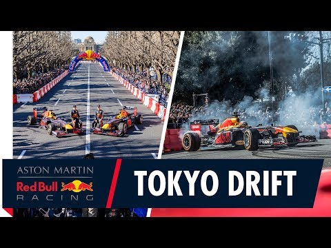 Throwing it down in Tokyo! | Max Verstappen and Pierre Gasly bring F1 to the streets of Japan
