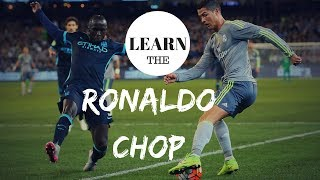 LEARN CRISTIANO RONALDO SKILLS | THE RONALDO CHOP | PRSOCCERART TUTORIALS #19