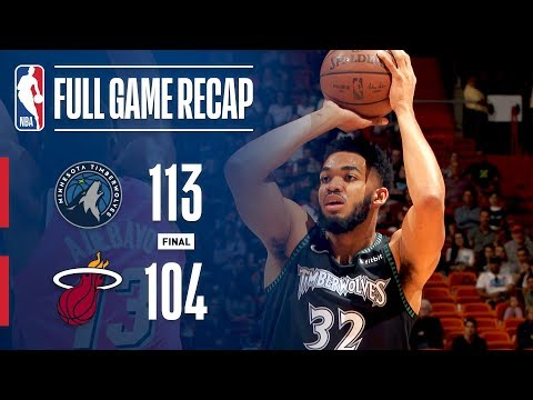 Full Game Recap: Timberwolves vs Heat | KAT Stuffs The Stat Sheet