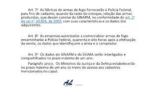02 - Decreto 5.123/2004 -  Artigos 03 ao 11