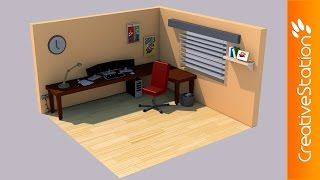 Isometric Gaming Room  - 3D Speed art (#Cinema4D) | CreativeStation