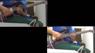 Dragonforce - Through The Fire and The Flames guitar solo cover