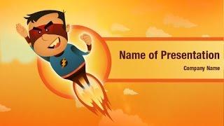 Super Hero PowerPoint Video Template Backgrounds - DigitalOfficePro #01397V