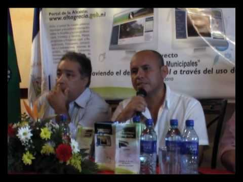 Inauguración de los portales web en Rivas, Nicaragua.