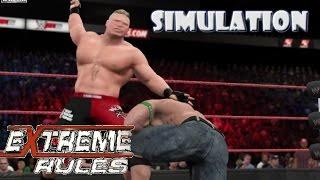 WWE 2K15 SIMULATION: John Cena vs Brock Lesnar | Extreme Rules 2012