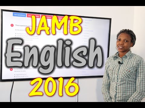 JAMB CBT English 2016 Past Questions 1 - 20