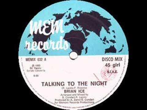 Talking To The Night de Brian Ice Letra y Video
