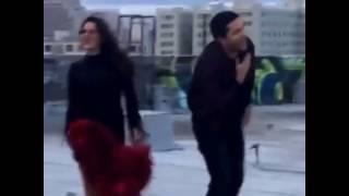 "Maite Perroni & Cali y El Dandee - Nahrávanie videoklipu k piesni ""Loca"" 7/20"