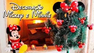 DIY - Enfeites de Natal - Mickey e Minnie
