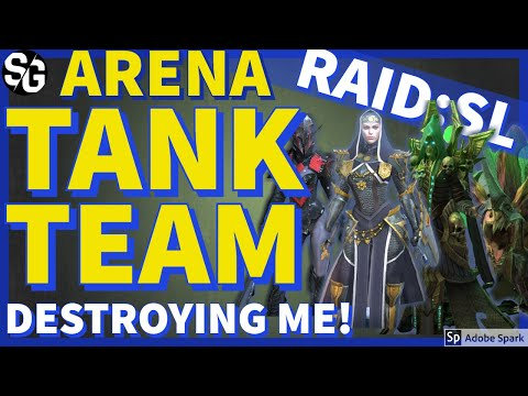 [RAID SHADOW LEGENDS] PT-2 CAN'T BEAT THIS TANK TEAM - ARENA SHOWDOWN!