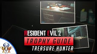 Resident Evil 2 - Treasure Hunter  - 2 Secret Items From The Photos Hints (RDS & Fuel)