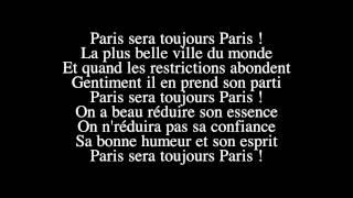 Zaz   Paris sera toujours Paris   (LYRICS / PAROLES )