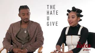 "THE AAFCA REPORT: AMANDLA STENBERG AND ALGEE SMITH TALK ""THE HATE U GIVE"""
