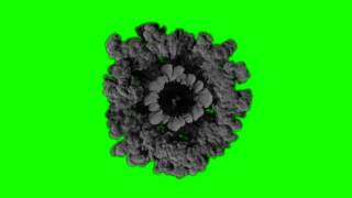 FREE HD Green Screen EXPLOSION SMOKE OVERHEAD VIEW