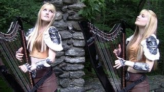 SKYRIM / MORROWIND Medley - Harp Twins - Camille and Kennerly