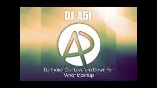DJ Snake Get low vs Turn Down For What Mashup(DJ A51)