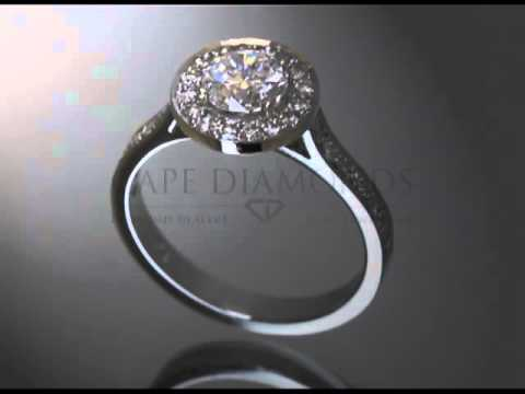 Complex stone ring,round diamond,round fitting with small diamonds,side stones,engagement ring