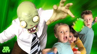 There's a ZOMBIE in our HOUSE! Hide and Seek Game for Kids | KIDCITY