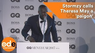 GQ Awards 2017: Stormzy calls Theresa May a 'paigon'
