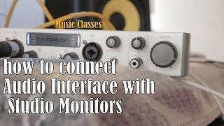 How to Connect KRK ROKIT 8 with M AUDIO M TRACK -GURU BHAI in HINDI | HOWTORAP | GURU BHAI STUDIO