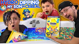 BECOMING FAMOUS on INSTAGRAM!  (FV Family Hydro Dipping in Cereal Vlog)