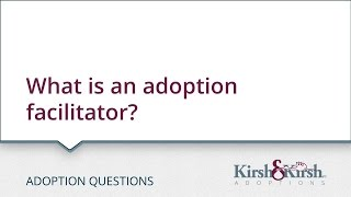 Adoption Questions: What is an adoption facilitator?