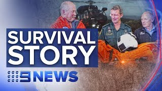 Helicopter crash crew found alive on NZ remote island | Nine News Australia