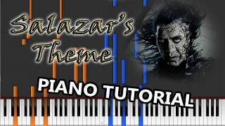 Salazar's Theme – piano tutorial (Pirates of the Caribbean V: Dead Men Tell no Tales)