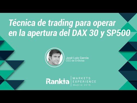 Conferencia interactiva de José Luis García, CEO de EnBolsa, durante la Rankia Markets Experience.  En ella explica una de las técnicas que utilizan para operar en la apertura de los principales índices bursátiles.