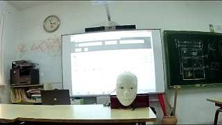 Our Inmoov robot works as a tourist guide