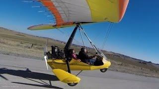 Ultralight Trike ULTRA short flight! Shortfield takeoff, flight, shortfield landing at R/C Airfield!