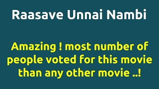 Raasave Unnai Nambi |1988 movie |IMDB Rating |Review | Complete report | Story | Cast