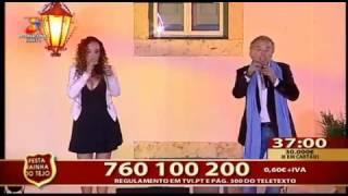 """JOSÉ REZA feat PATRÍCIA """"Gosto de Ti"""" em SALVATERRA De MAGOS na Festa da Rainha do Tejo 2016 TVI"""