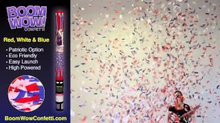 Red, White & Blue - BoomWow Confetti Cannon