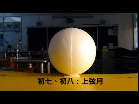 月相變化--月亮的長相為何會變樣? (以實際操作,來增進理解) - YouTube